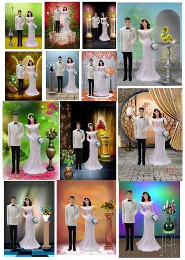 عرضه 26 عدد فایل بکگراند و پس زمینه عروس و داماد بسیار زیبا